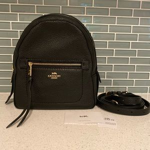 New  COACH Pebble Mini Backpack